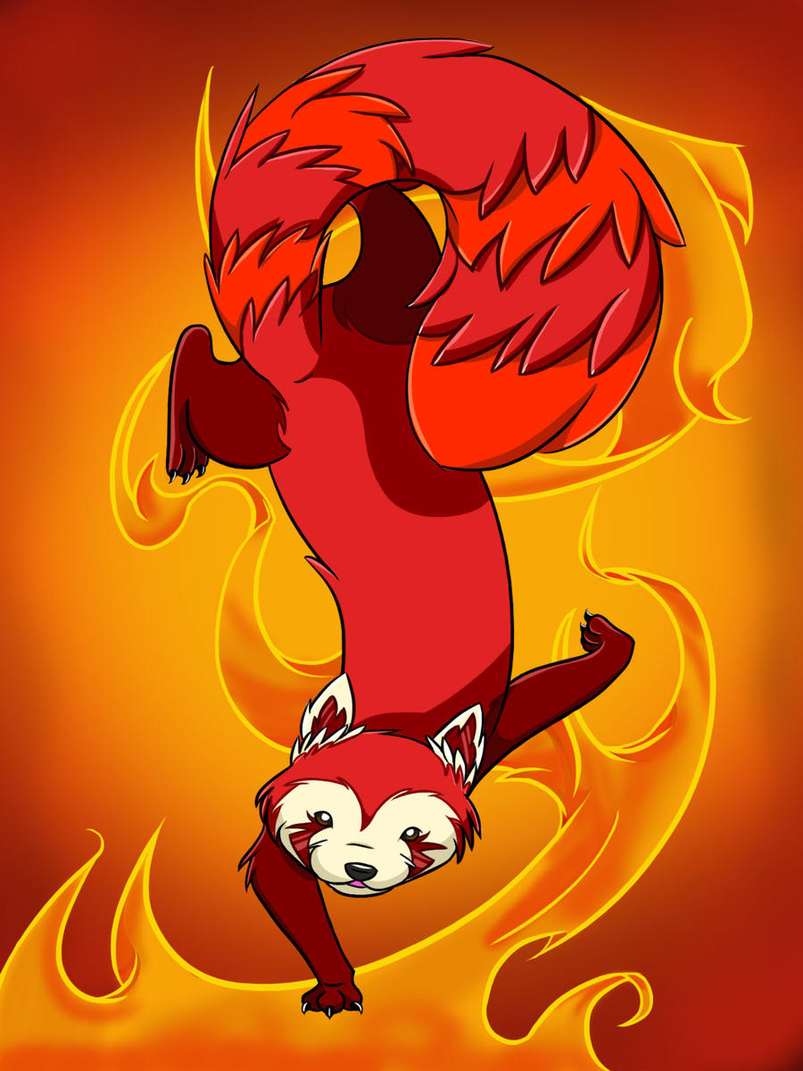 Fire Ferret by LuckyJackal