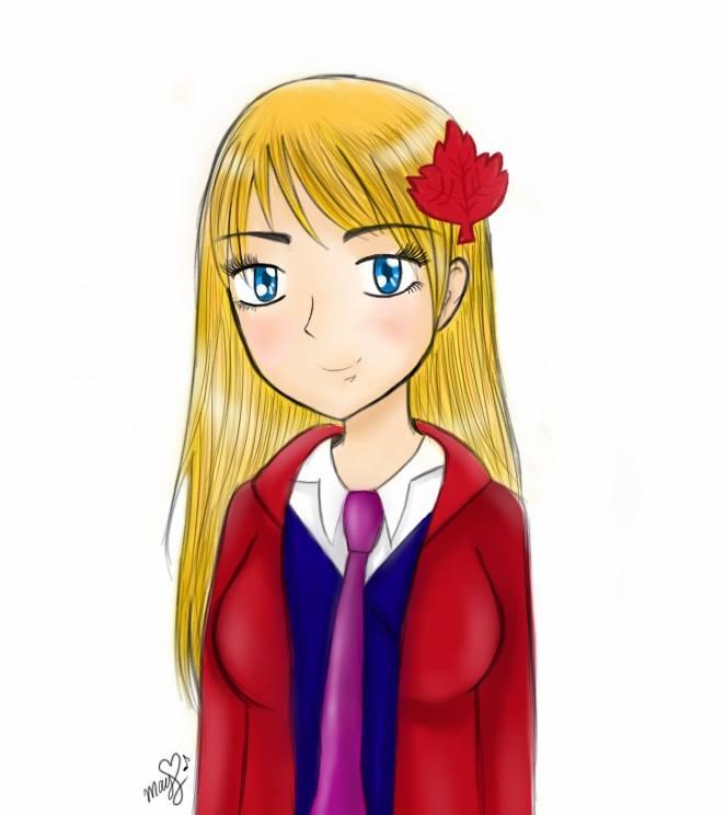 Nyotalia! ~Canada 2P (Madeline Williams) by May-Kuroi