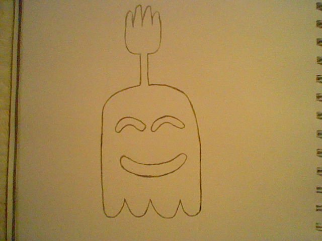 how to draw high five ghost