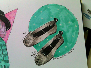 Cat Lady Shoes   INKtober 4