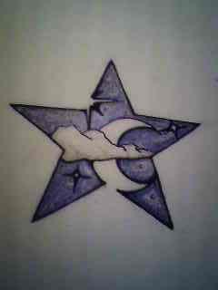 Star and Moon Tattoo design by darthbaio