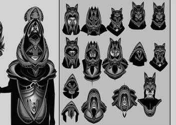 WIP Character designs by KaiOwen