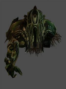 Derelict alien mech