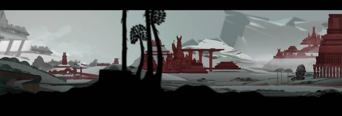 Concept art: fantasy city by KaiOwen