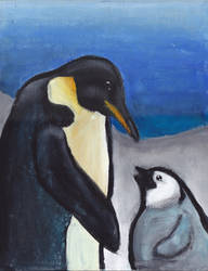 Penguin Painting by Berrymarley