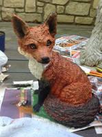 Fox Sculpture-After by Berrymarley