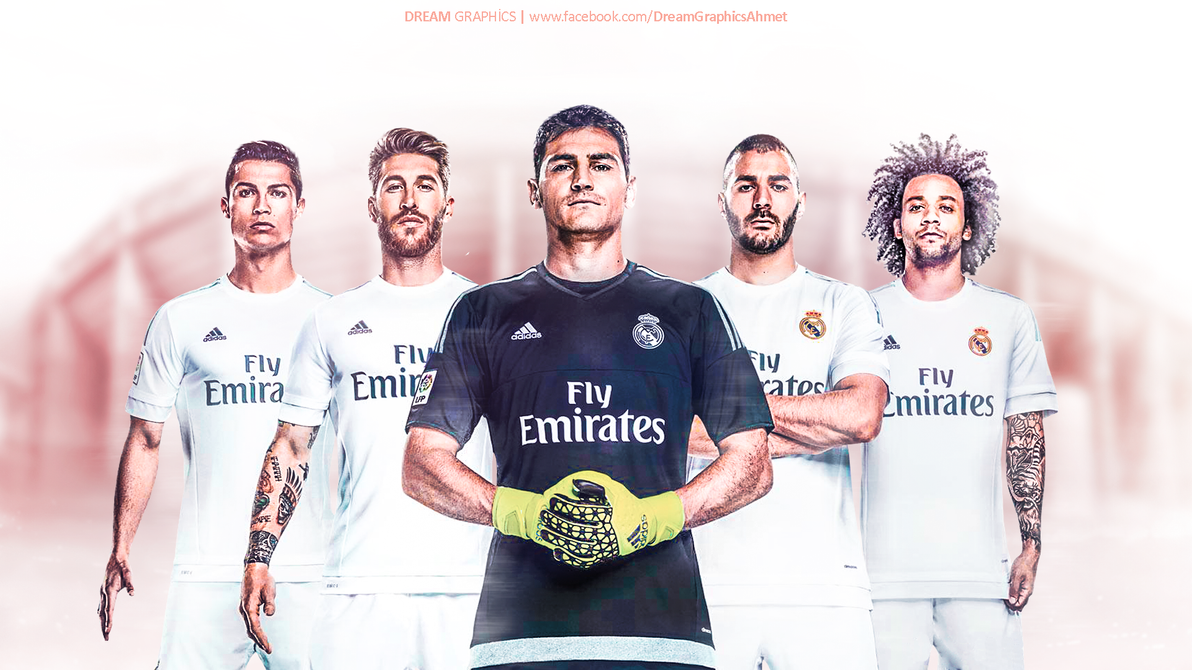 Real Madrid 20152016 Wallpaper Work by dreamgraphicss on DeviantArt