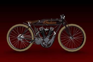 1914 Daytona INDIAN motorcycle by GoldenSim