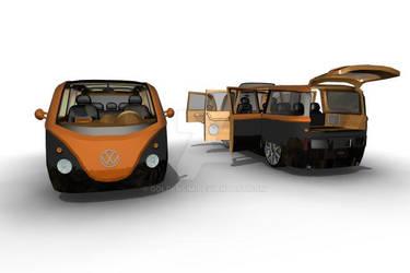 Modern VW Samba concept by GoldenSim