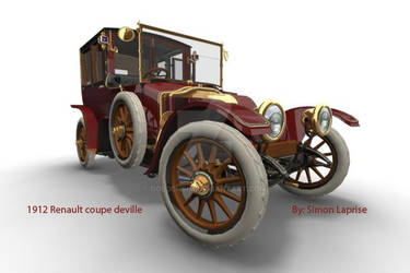 1912 Renault Coupe deVille 5 by GoldenSim