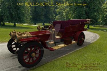 1907 Rolls-Royce SilverGhost7 passenger tourer by GoldenSim