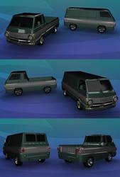 Dodge A100 pickup and van (wip) 2 by GoldenSim