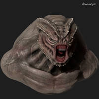 Monster bust by Alnomcys