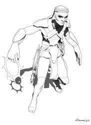 Hominus hunter BW by Alnomcys