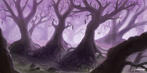 Purple forest by Alnomcys