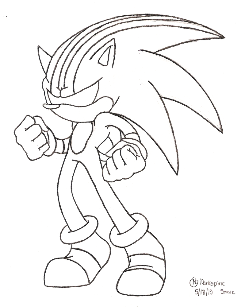 Darkspine sonic free colouring pages for Sonic coloring pages free