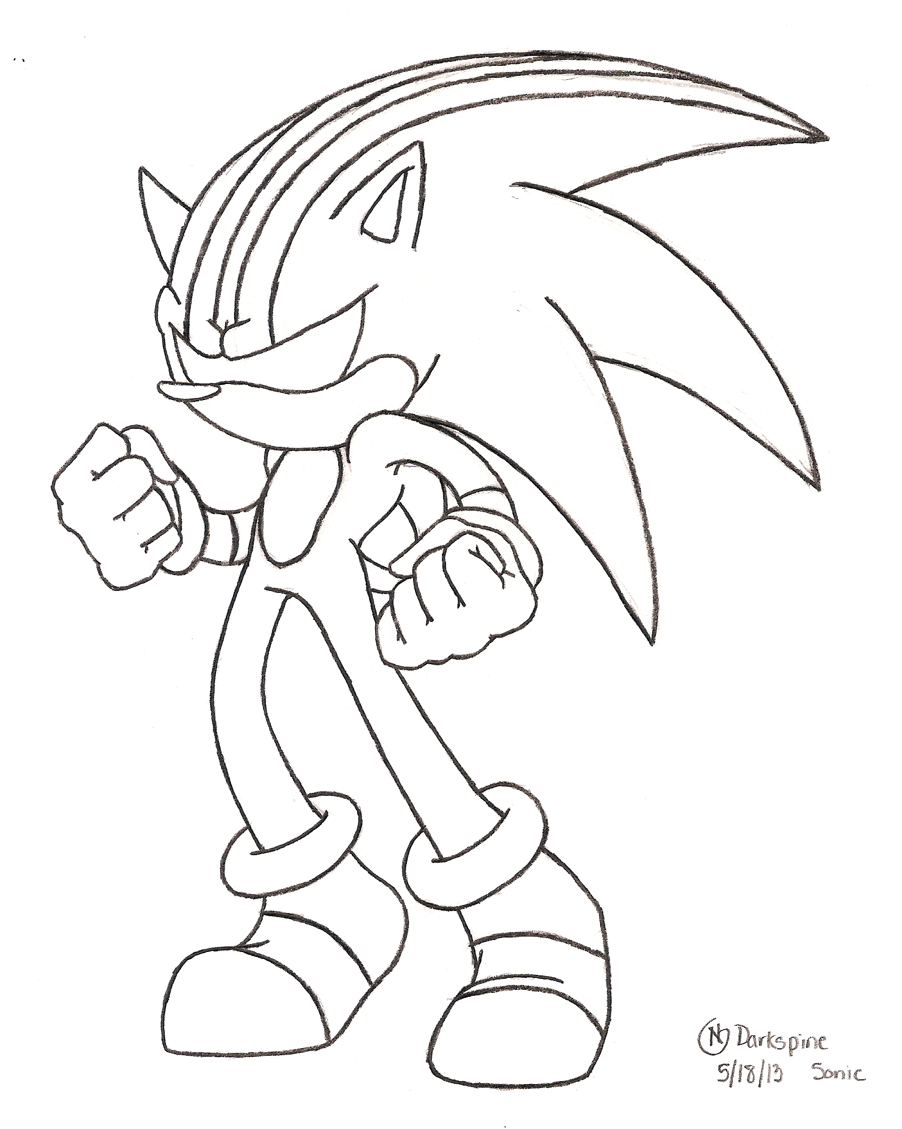 Darkspine sonic free colouring pages for Sonic color page