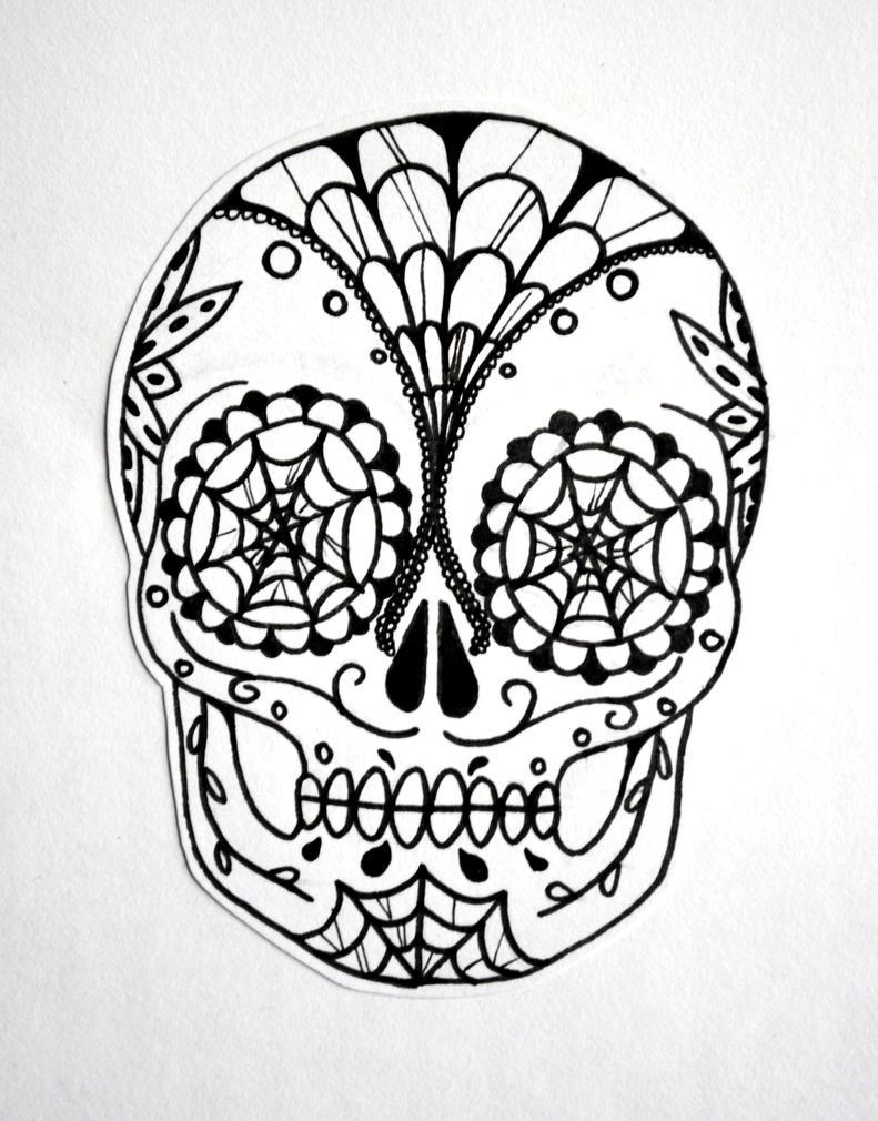 Black And White Sugar Skull Designs Sugar Skull Black And White