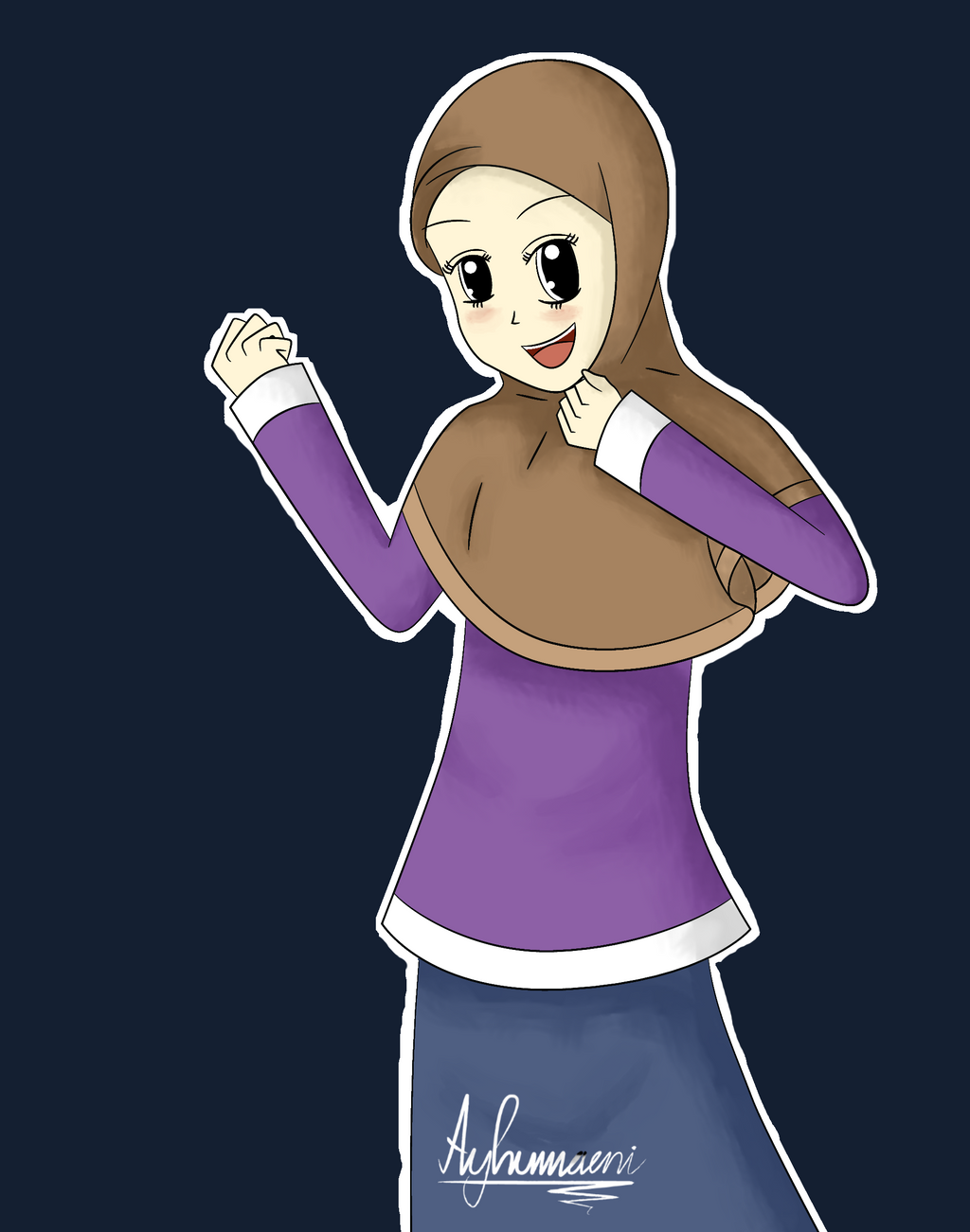 Best Hijab Anime With Hijab-anime By Ayhumaeni On Deviantart