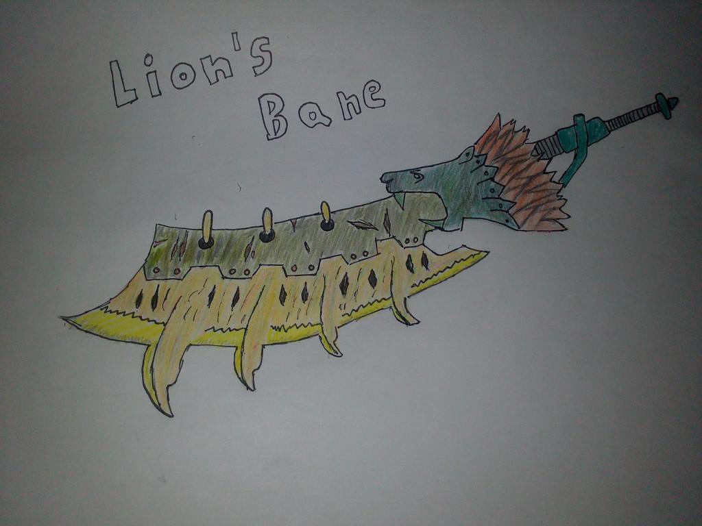 Monster Hunter Lion s Bane Greatsword by rottenzombie12Greatsword Monster Hunter