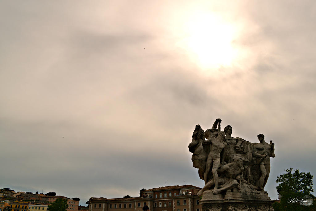 Statue in Rome by Kiiriukas