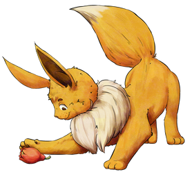 Eevee with the berry