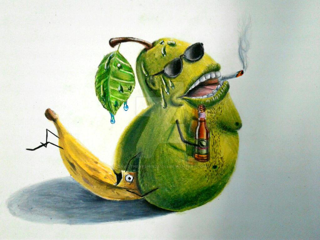 Pear chillin' by DavidTheArtNinja1345