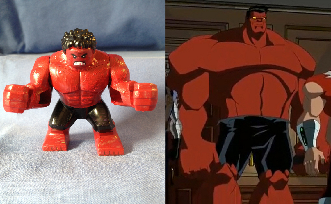 marvel lego red hulk