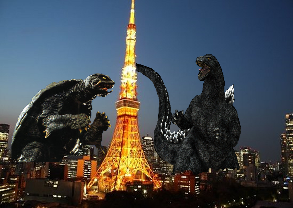 Godzilla vs Gamera by MonsterIsland1969 on DeviantArt