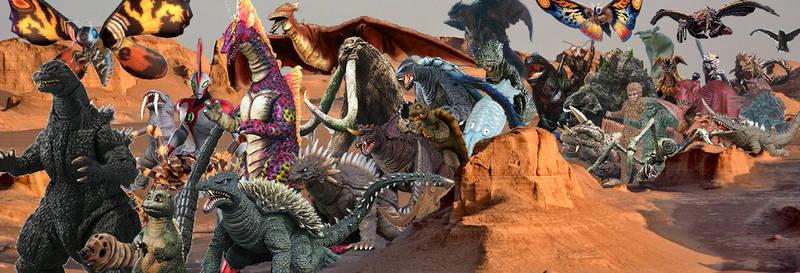 The Titans herd crossing the desert