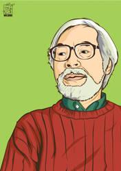 Hayao Miyazaki by warlock1291