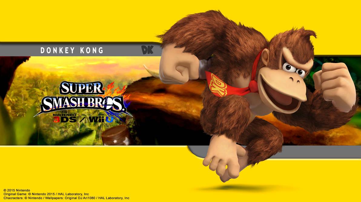 Donkey Kong Wallpaper Ssb For 3ds Wii U By Djari1080 On
