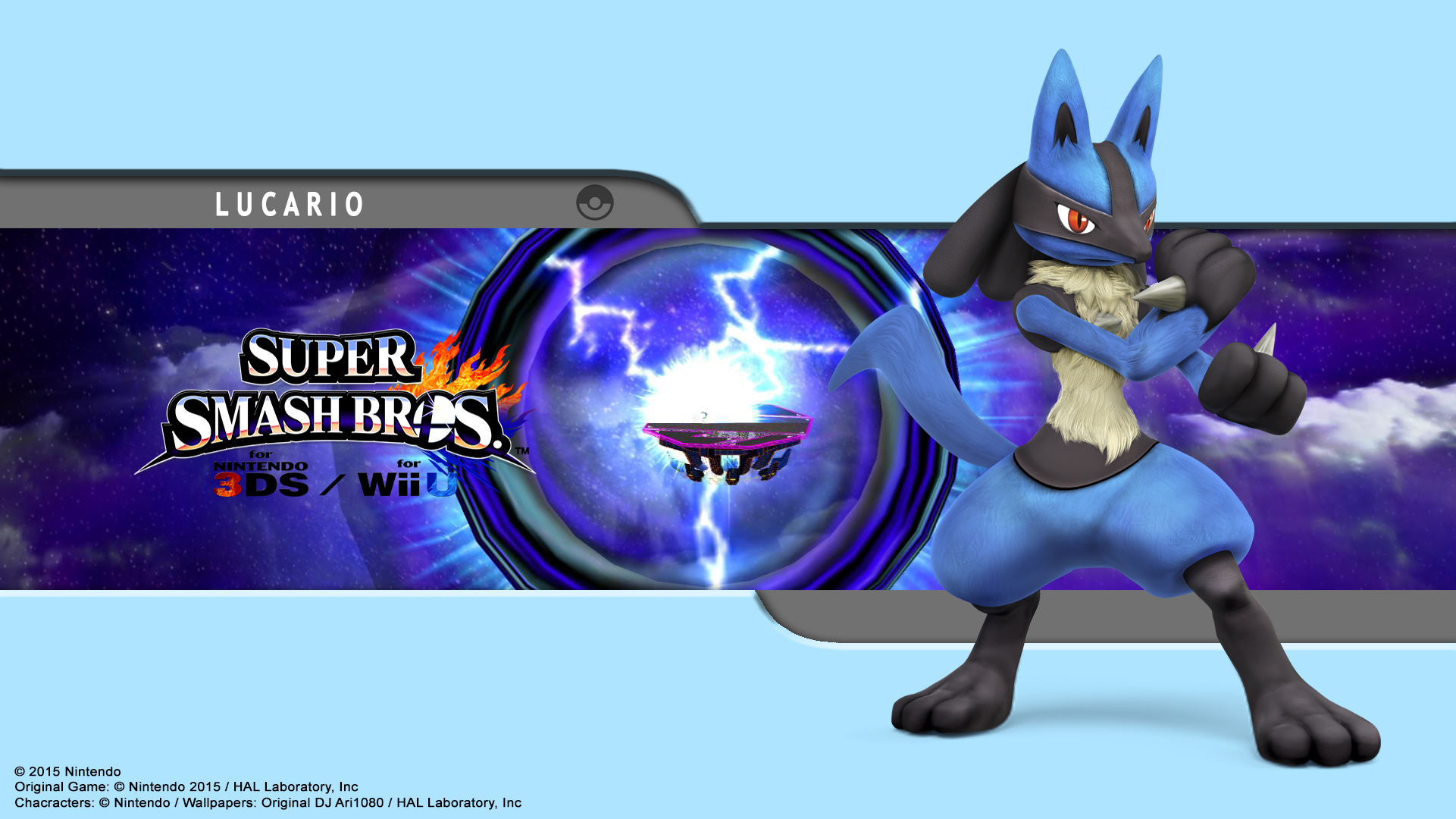 Lucario Wallpaper - SSB for 3Ds / Wii U by DJAri1080 on ...