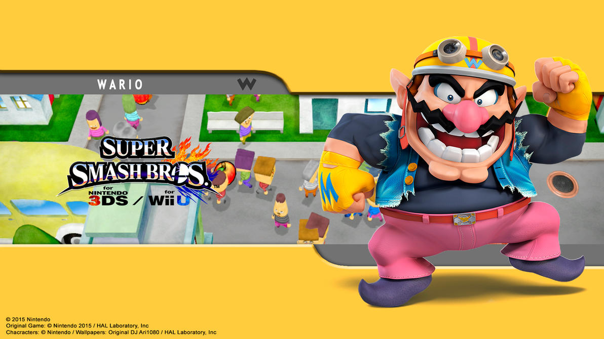 Wario (All Star) Wallpaper - SSB for 3Ds / Wii U by ...