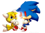 Chibi Sonic.exe And Tails Doll