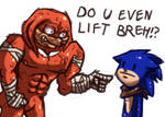 Knuckles in sanic boom