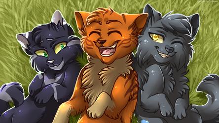Three Happy Apprentices by Klaracrystalpaws