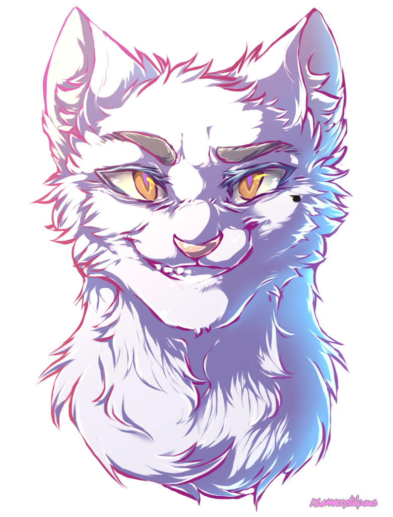 Warrior Cat Headshot Lineart
