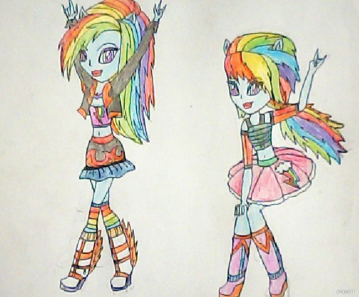 Rainbow Dash Mlpeg Fashion Pack By Artiv Arts21 On Deviantart