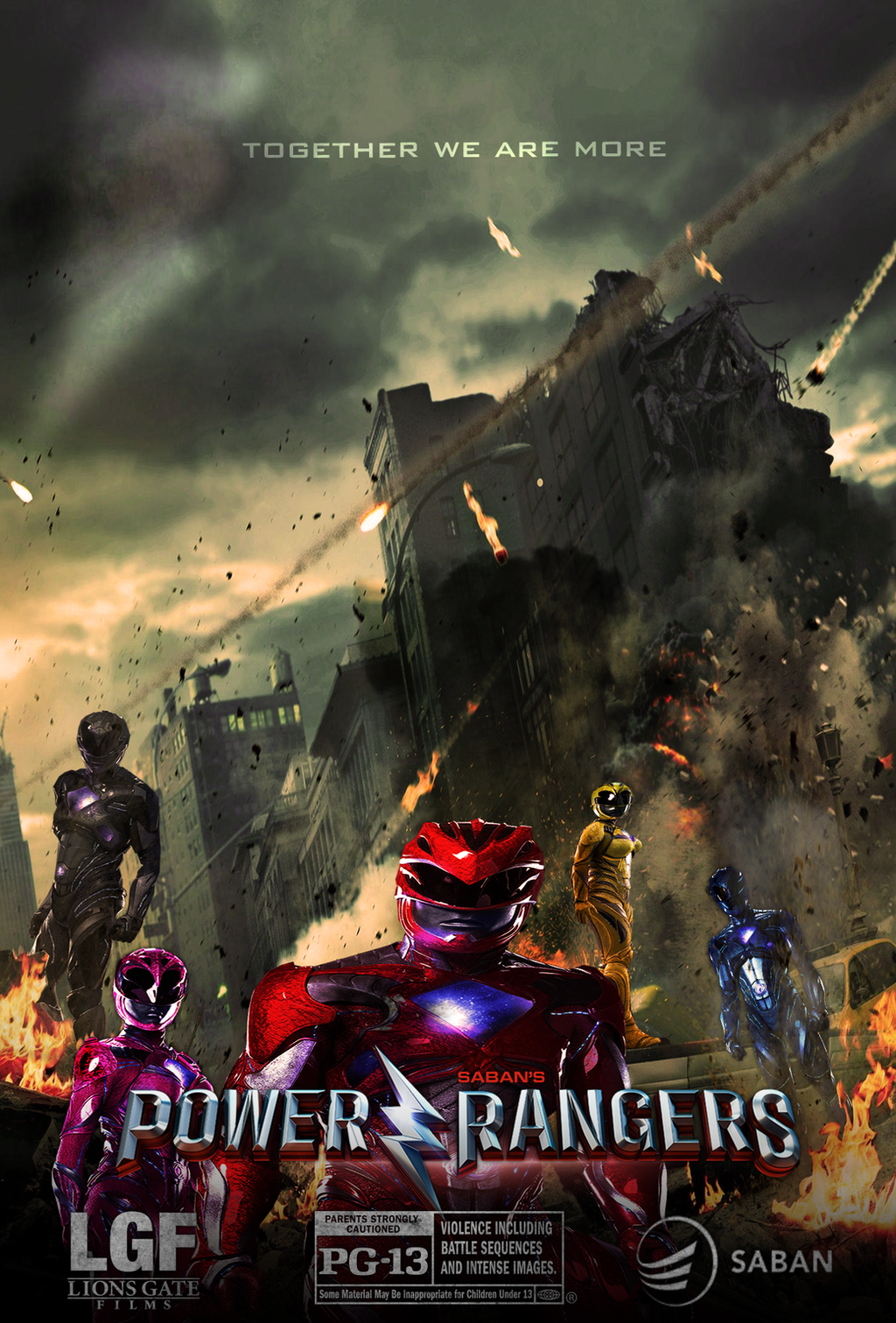 (Fan Made) Power Rangers 2017 Reboot Poster by ...
