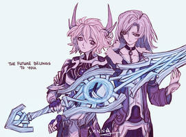 Shulk and Alvis by wiltking