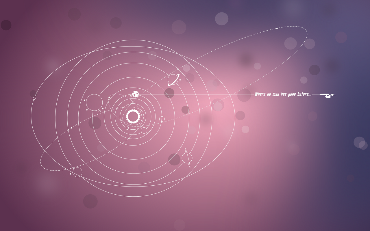 Minimalistic Star Trek wall - Ubuntu colors by petrsimcik