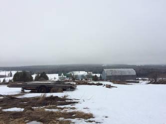 Snowy Farm by mcorvec