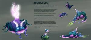 Scaravages  - concept art board