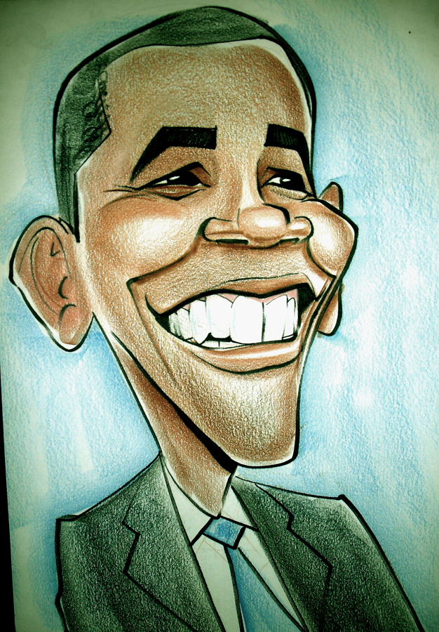 Caricaturas de famosos Barack_Obama_Caricature_by_heckthor
