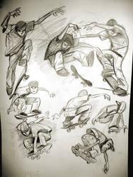 Skater Sketches by heckthor