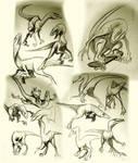 Raptor poses