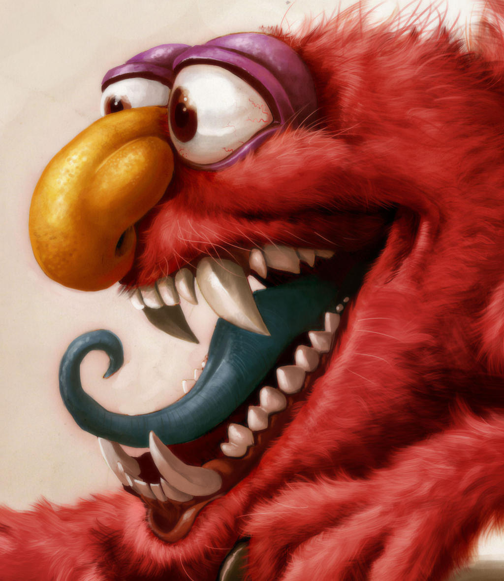 Elmo is a Monster right? FACE by heckthor on DeviantArt