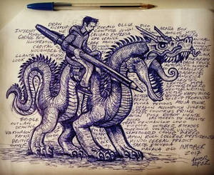 Writer Riding Demon Dragon