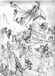 Welcome to Gotham - Pencils by skyloreang